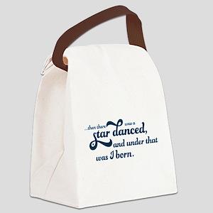 A Star Danced - Blue Canvas Lunch Bag