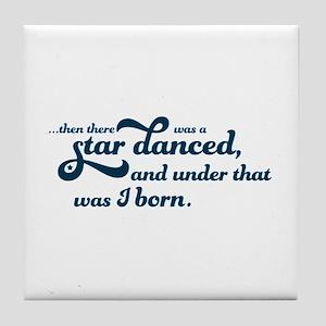 A Star Danced - Blue Tile Coaster