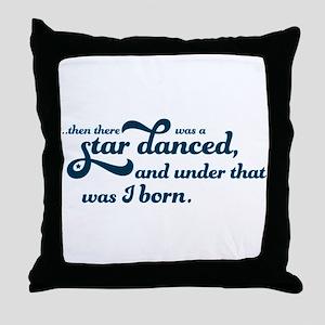 A Star Danced - Blue Throw Pillow
