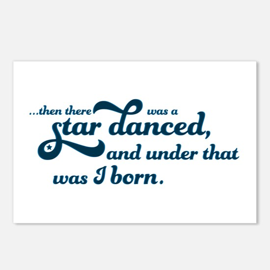 A Star Danced - Blue Postcards (Package of 8)