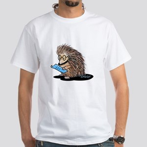 Warm Fuzzy Porcupine White T-Shirt