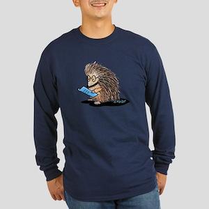 Warm Fuzzy Porcupine Long Sleeve Dark T-Shirt