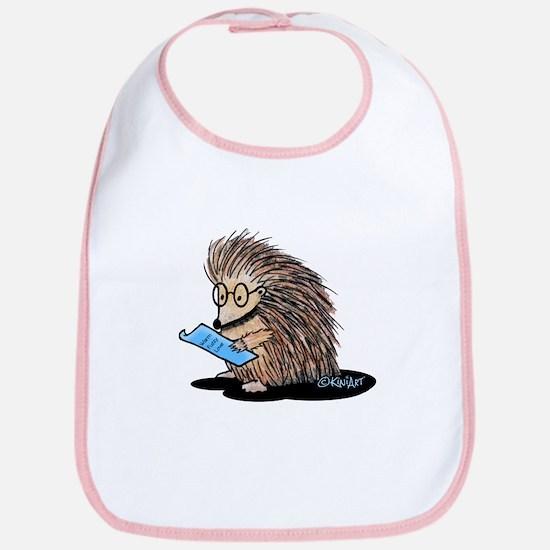 Warm Fuzzy Porcupine Bib