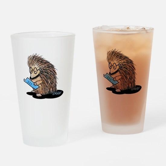 Warm Fuzzy Porcupine Drinking Glass