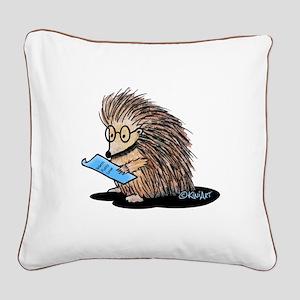 Warm Fuzzy Porcupine Square Canvas Pillow