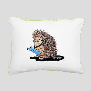 Warm Fuzzy Porcupine Rectangular Canvas Pillow