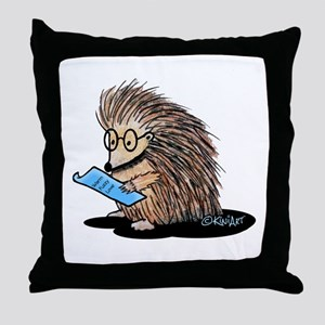 Warm Fuzzy Porcupine Throw Pillow