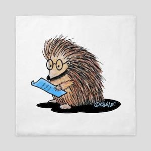 Warm Fuzzy Porcupine Queen Duvet