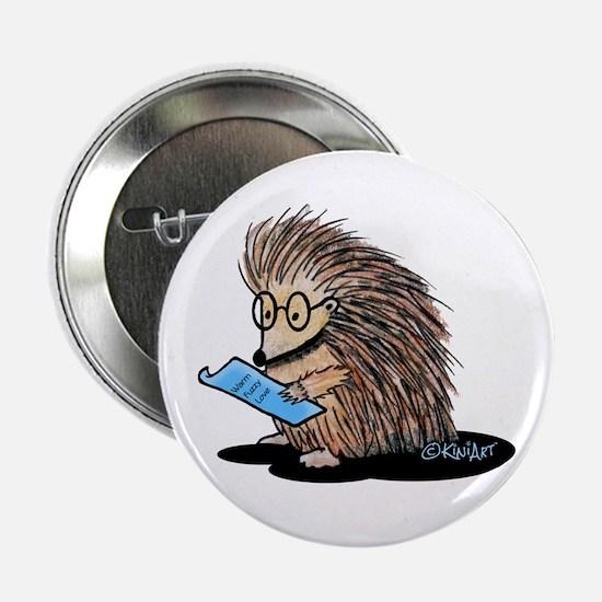 """Warm Fuzzy Porcupine 2.25"""" Button"""