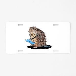 Warm Fuzzy Porcupine Aluminum License Plate