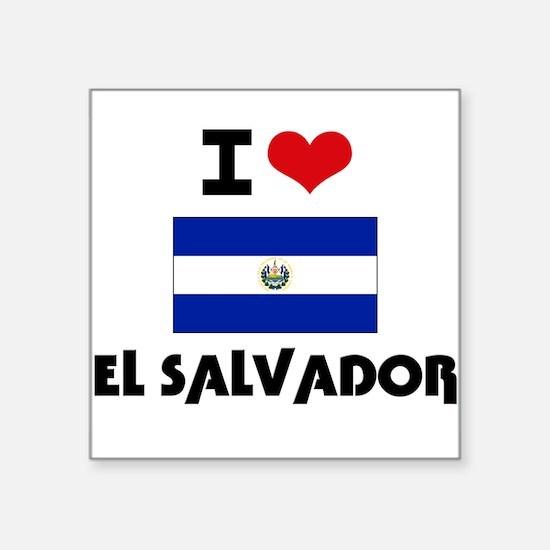 I HEART EL SALVADOR FLAG Sticker