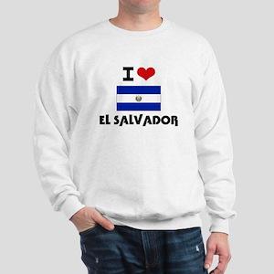 I HEART EL SALVADOR FLAG Sweatshirt