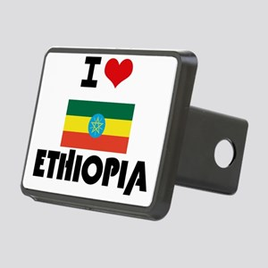 I HEART ETHIOPIA FLAG Hitch Cover
