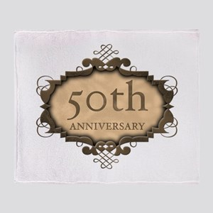 50th Aniversary (Rustic) Throw Blanket