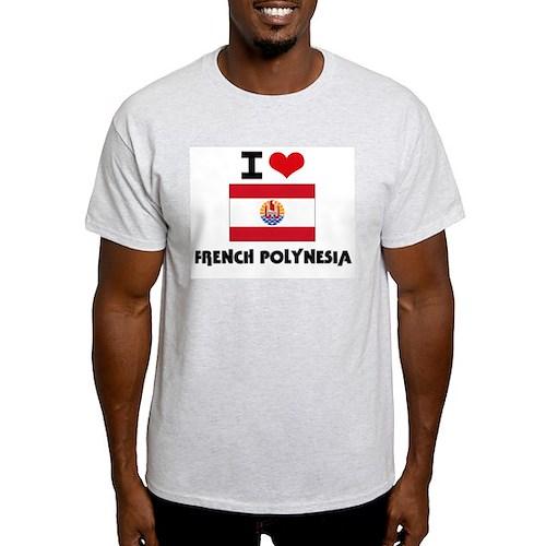 I HEART FRENCH POLYNESIA FLAG T-Shirt