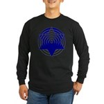 Twisty Magen David Long Sleeve Dark T-Shirt