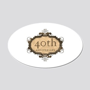 40th Aniversary (Rustic) 20x12 Oval Wall Decal