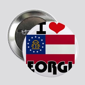 "I HEART GEORGIA FLAG 2.25"" Button"
