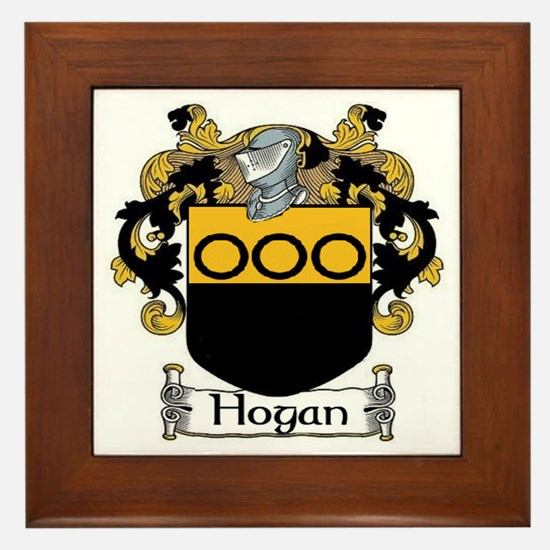 Hogan Coat of Arms Framed Tile
