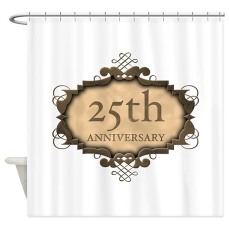 25th Aniversary (Rustic) Shower Curtain