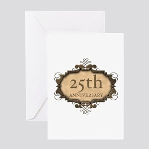 25th Aniversary (Rustic) Greeting Card