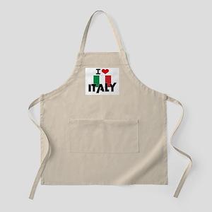 I HEART ITALY FLAG Apron