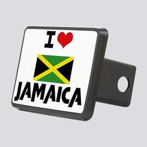 I HEART JAMAICA FLAG Hitch Cover