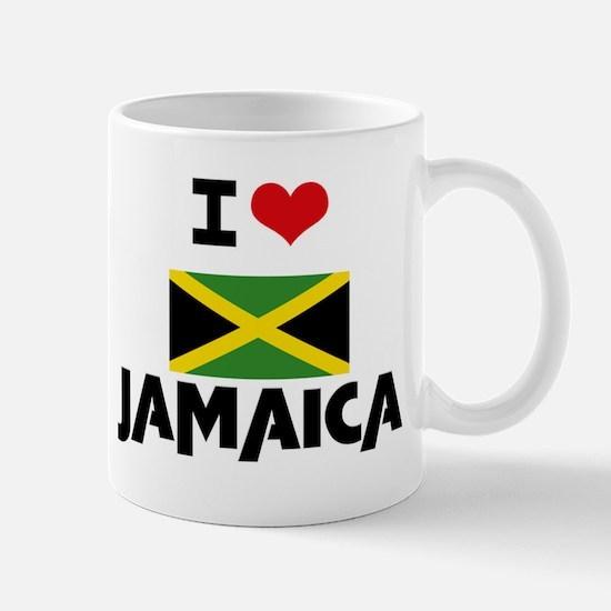 I HEART JAMAICA FLAG Mug