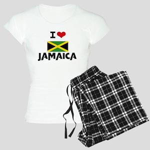 I HEART JAMAICA FLAG Pajamas