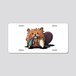 Beaver Lover Aluminum License Plate