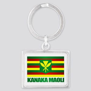 Kanaka Maoli Flag Keychains