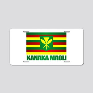 Kanaka Maoli Flag Aluminum License Plate