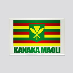 Kanaka Maoli Flag Rectangle Magnet
