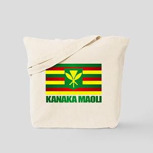 Kanaka Maoli Flag Tote Bag