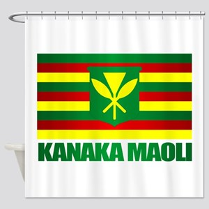 Kanaka Maoli Flag Shower Curtain
