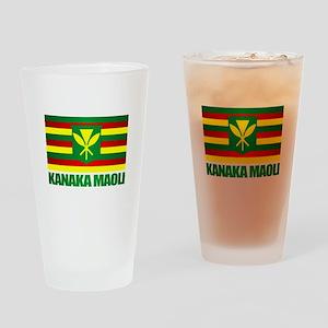 Kanaka Maoli Flag Drinking Glass
