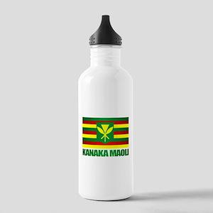 Kanaka Maoli Flag Water Bottle