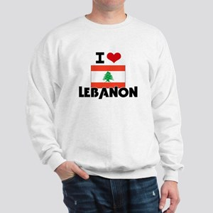 I HEART LEBANON FLAG Sweatshirt