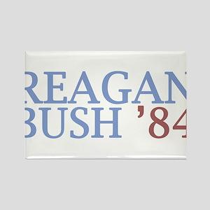Reagan Bush '84 Rectangle Magnet