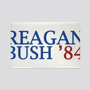 Reagan Bush '84 Rectangle Magnet