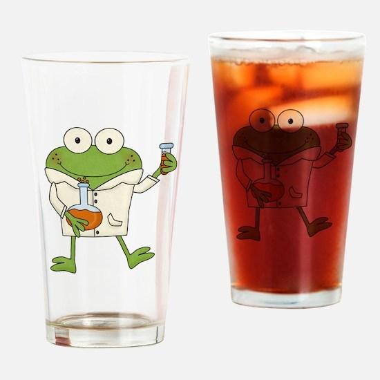 Frog Scientist Drinking Glass