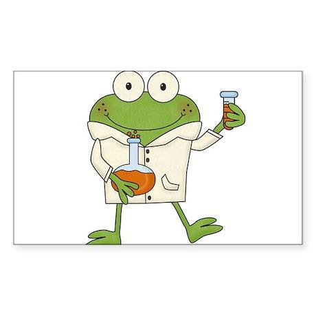 Frog Scientist Sticker