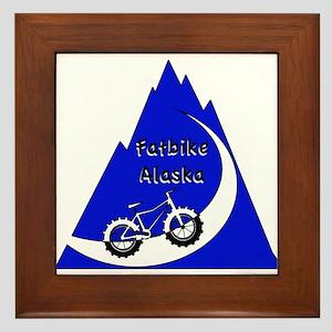 Fatbike Alaska Mountain logo Framed Tile