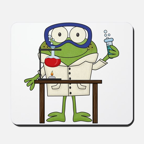 Frog in Science Lab Mousepad