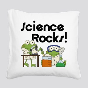 Frogs Science Rocks Square Canvas Pillow