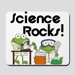 Frogs Science Rocks Mousepad