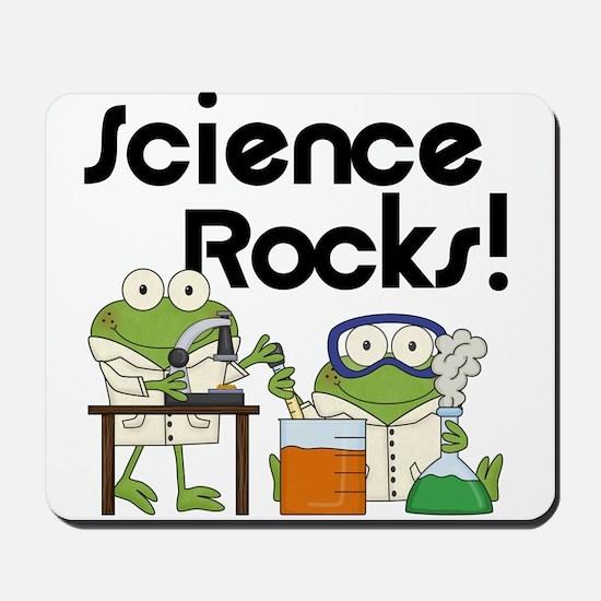 Frogs Science Rocks Mousepad