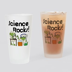 Frogs Science Rocks Drinking Glass