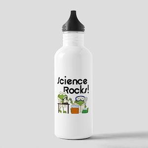 Frogs Science Rocks Water Bottle