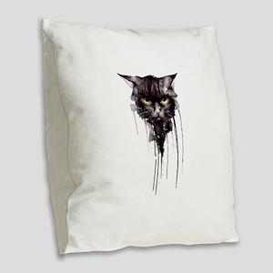 Angry cat T shirt Burlap Throw Pillow